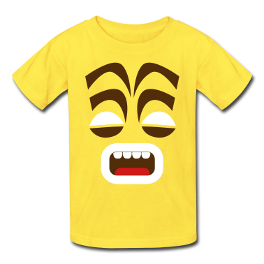 freaky tiki face scream! Kids' Shirts