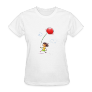 Women's T-Shirts ~ Women's Standard Weight T-Shirt ~ A Cherry Tee for Charity (Balloon Cherry)