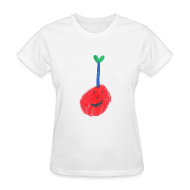 Women's T-Shirts ~ Women's Standard Weight T-Shirt ~ A Cherry Tee for Charity (Freaky Stem Cherry)