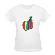 Women's T-Shirts ~ Women's Standard Weight T-Shirt ~ A Cherry Tee for Charity (Rainbow Cherry)
