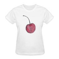 Women's T-Shirts ~ Women's Standard Weight T-Shirt ~ A Cherry Tee for Charity (Checkerboard Cherry)
