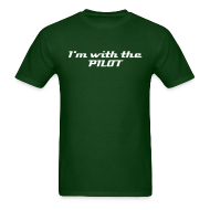 I'm With the Pilot – Aviation T-Shirt