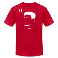 T-Shirts ~ Men's T-Shirt by American Apparel ~ Yao Ming Portrait with Red94 logo