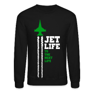Long Sleeve Shirts ~ Men's Crewneck Sweatshirt ~ Jet Life Crew Neck