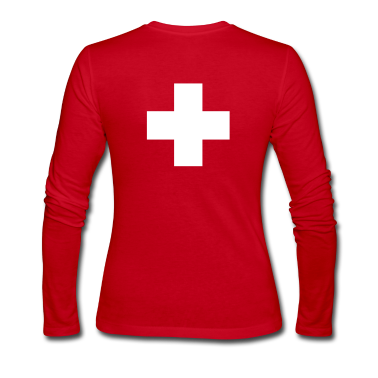 cross swiss red Long Sleeve Shirts