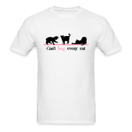 T-Shirts ~ Men's Standard Weight T-Shirt ~ Can't Hug Every Cat
