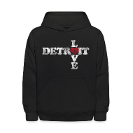 Sweatshirts ~ Kids' Hooded Sweatshirt ~ Love Detroit