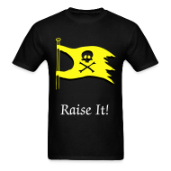 T-Shirts ~ Men's Standard Weight T-Shirt ~ Raise It! Flag Tee