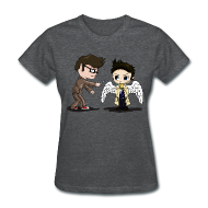 Women's T-Shirts ~ Women's Standard Weight T-Shirt ~ Superwho: The Doctor & Castiel