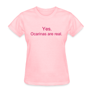 Women's T-Shirts ~ Women's Standard Weight T-Shirt ~ Ocarinas are Real (Girls)