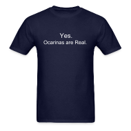 T-Shirts ~ Men's Standard Weight T-Shirt ~ Ocarinas are Real (Guys)