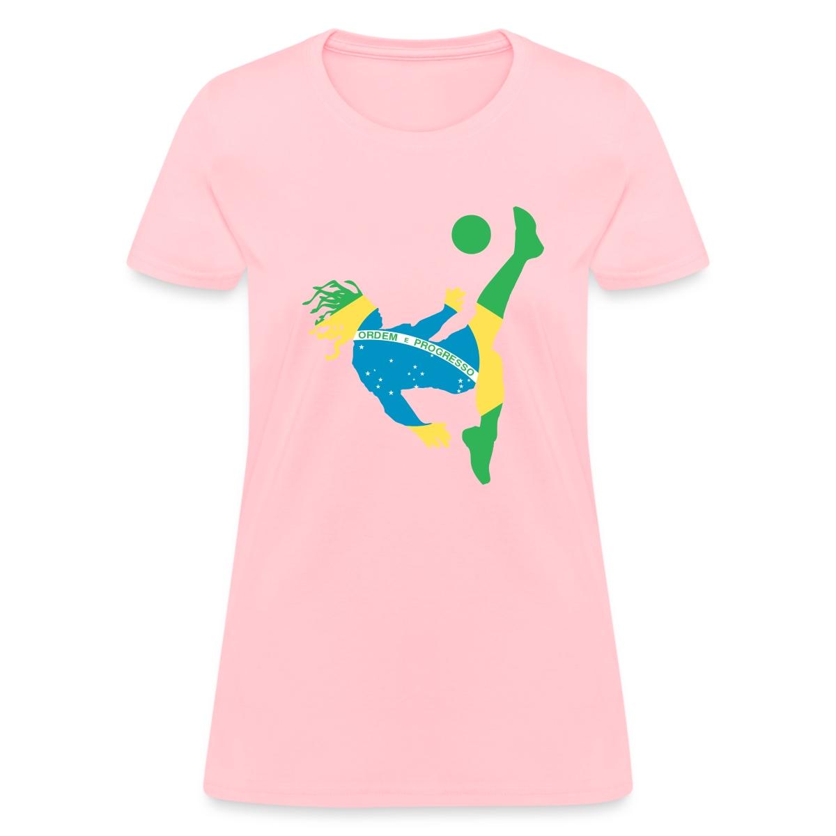 Brazil soccer usa women 39 s t shirt by spreadshirt ebay for Womens brazil t shirt