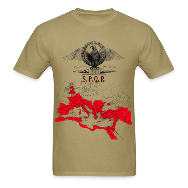 SPQR Shirt With An Eagle Banner & Detailed Map of The Roman Empire