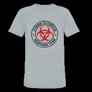 T-Shirts ~ Unisex Tri-Blend T-Shirt by American Apparel ~ 1-ULogo-MTri-Full (Black & Red)