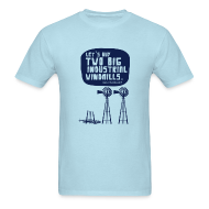 T-Shirts ~ Men's Standard Weight T-Shirt ~ WINDMILLS (light blue)