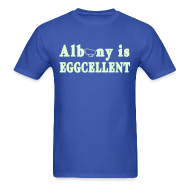 T-Shirts ~ Men's T-Shirt ~ Glow in the dark Albany is Eggcellent Shirt by New York Old School