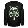 Skeleton Bones Glow in the Dark Kids Long Sleeve T-Shirt