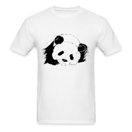 T-Shirts ~ Men's Standard Weight T-Shirt ~ Slumbering Panda - S - 2XL