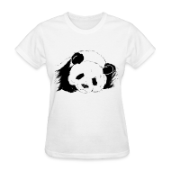 Women's T-Shirts ~ Women's Standard Weight T-Shirt ~ Slumbering Panda - S - 2XL
