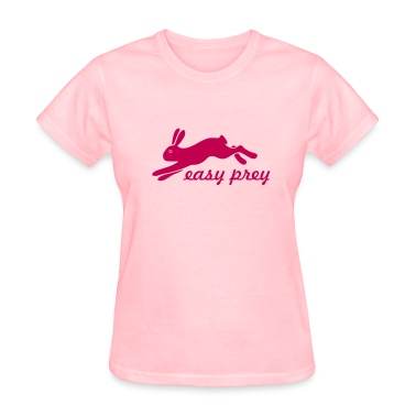 bunny rabbit hare puss easy prey ears easter cute Women's T-Shirts