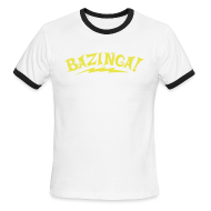 T-Shirts ~ Men's Ringer T-Shirt by American Apparel ~ BAZINGA Sports T-Shirt