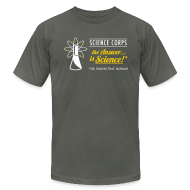 T-Shirts ~ Men's T-Shirt by American Apparel ~ Science Corps - The Answer (Asphalt Men's AA)