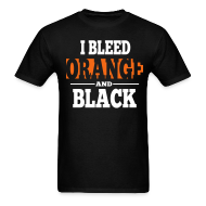 T-Shirts ~ Men's Standard Weight T-Shirt ~ I Bleed Orange and Black Shirt - Black