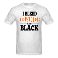 T-Shirts ~ Men's Standard Weight T-Shirt ~ I Bleed Orange and Black Shirt - Ash Grey