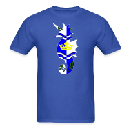 T-Shirts ~ Men's Standard Weight T-Shirt ~ Atlantia - Heraldic Seahorse