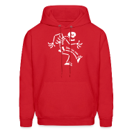 Hoodies ~ Men's Hooded Sweatshirt ~ Naughty Skeleton Hoodie