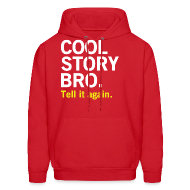 Hoodies ~ Men's Hooded Sweatshirt ~ Men Cool Story Bro Sweatshirt