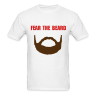 T-Shirts ~ Men's Standard Weight T-Shirt ~ Fear the Beard - Buffalo on Back (M)