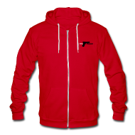 Zip Hoodies/Jackets ~ Unisex Fleece Zip Hoodie by American Apparel ~ Article 8306745