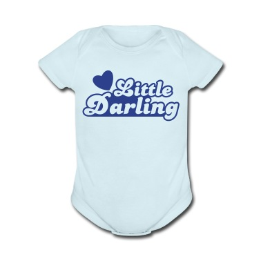 little darling with cute little love heart Baby Bodysuits