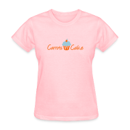 Women's T-Shirts ~ Women's Standard Weight T-Shirt ~ Carrots n Cake - Front & Back