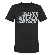 T-Shirts ~ Men's Tri-Blend Vintage T-Shirt ~ Silver & Black Attack