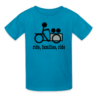Kids' Shirts ~ Kids' T-Shirt ~ Youth Cargo Trike Ride Families