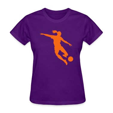 Soccer female Women's T-Shirts