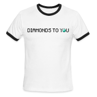 T-Shirts ~ Men's Ringer T-Shirt by American Apparel ~ Diamonds To You! Mens Shirt. The Minecraft Monday Show