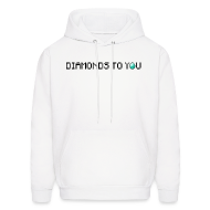 Hoodies ~ Men's Hooded Sweatshirt ~ Diamonds To You! Hoodie. The Minecraft Monday Show