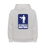Sweatshirts ~ Kids' Hooded Sweatshirt ~ MY HAND IS A DOLPHIN!