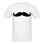 T-Shirts ~ Men's Standard Weight T-Shirt ~ mustache tee