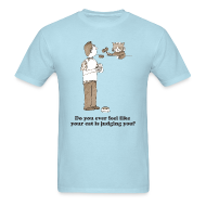 T-Shirts ~ Men's Standard Weight T-Shirt ~ Kitty Judgement