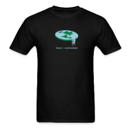 T-Shirts ~ Men's T-Shirt ~ Flat Earth [flatearth]