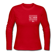 Long Sleeve Shirts ~ Women's Long Sleeve Jersey T-Shirt ~ I'm a BICH - Pocket