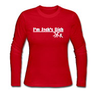 Long Sleeve Shirts ~ Women's Long Sleeve Jersey T-Shirt ~ I'm Jack's Bich