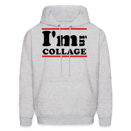 Hoodies ~ Men's Hooded Sweatshirt ~ I'm In Collage