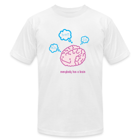 Happy Brain Ingredients Men's T-Shirt - White ~ 316