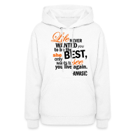 Hoodies ~ Women's Hooded Sweatshirt ~ Life
