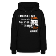 Hoodies ~ Women's Hooded Sweatshirt ~ Eyes